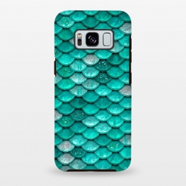 Galaxy S8 plus  Mint Glitter Metal Mermaid Scales by