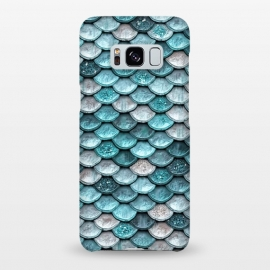 Galaxy S8+  Silver and Blue Glitter Mermaid Scales by Utart