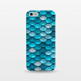 iPhone 5/5E/5s  Blue Metal Mermaid Glitter Scales by Utart