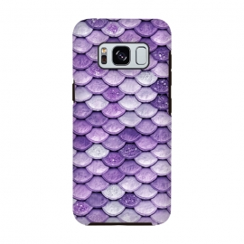 Purple Metal Glitter Mermaid Scales by Utart