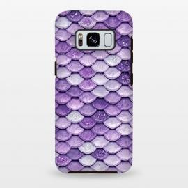 Galaxy S8 plus  Purple Metal Glitter Mermaid Scales by