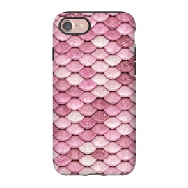 iPhone 8/7  Pink Glitter Mermaid Scales by Utart