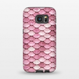 Galaxy S7  Pink Glitter Mermaid Scales by Utart