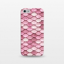 iPhone 5/5E/5s  Pink Glitter Mermaid Scales by Utart