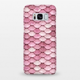 Galaxy S8+  Pink Glitter Mermaid Scales by Utart