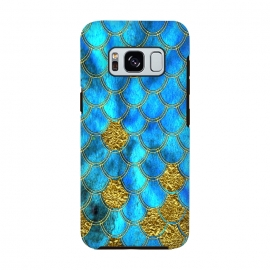 Galaxy S8  Blue and Gold Glitter Mermaid Scales by Utart