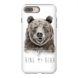 iPhone 8/7 plus  Ring my bear by Balazs Solti (bear,animal,humor,funny,typography,text,drawing)