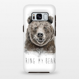 Galaxy S8 plus  Ring my bear by  (bear,animal,humor,funny,typography,text,drawing)