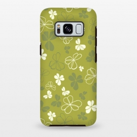 Galaxy S8+  Lucky Clover in Green and White by Paula Ohreen