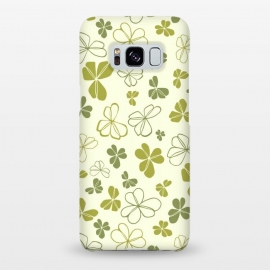 Galaxy S8+  Lucky Clover in Cream and Green by Paula Ohreen