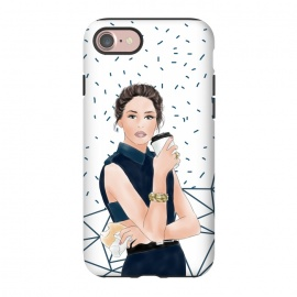 iPhone 8/7  Fashion Girl with Coffee by DaDo ART