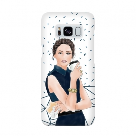 Galaxy S8  Fashion Girl with Coffee by DaDo ART