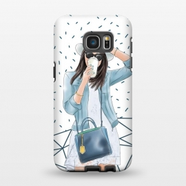 Galaxy S7 EDGE  Trendy City Fashion Girl by DaDo ART