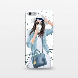 iPhone 5/5E/5s  Trendy City Fashion Girl by DaDo ART