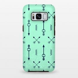 Galaxy S8 plus  arrow pattern green by