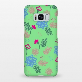 Galaxy S8+  blue pink floral pattern by MALLIKA