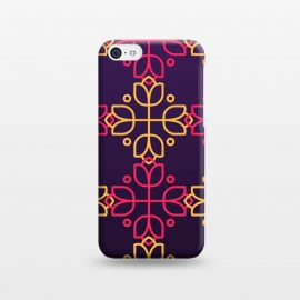 iPhone 5C  yellow pink floral pattern by MALLIKA