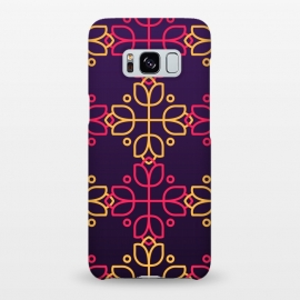 Galaxy S8+  yellow pink floral pattern by MALLIKA