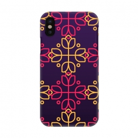 iPhone X  yellow pink floral pattern by MALLIKA