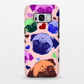 Galaxy S8+  Pug Puppy Dog Love Hearts Pattern  by BluedarkArt