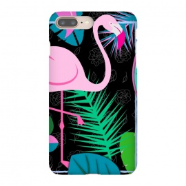 flamingo pattern black by MALLIKA