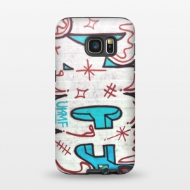 Galaxy S7  Spray Paint Grafitti Tag by Andrea Haase