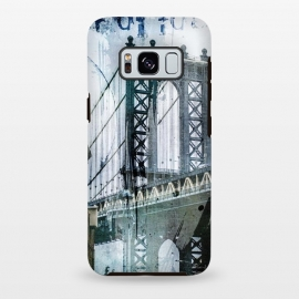 Galaxy S8+  Brooklyn Bridge Grunge Mixed Media Art by Andrea Haase