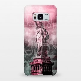 Galaxy S8+  Statue Of Liberty Mixed Media Art by Andrea Haase