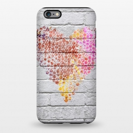iPhone 6/6s plus  Spray Paint Heart On Brick Wall by Andrea Haase
