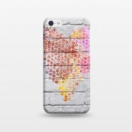 iPhone 5C  Spray Paint Heart On Brick Wall by Andrea Haase