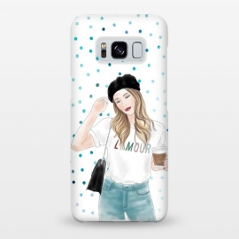Galaxy S8+  Lamour Coffee Fashion Girl by DaDo ART