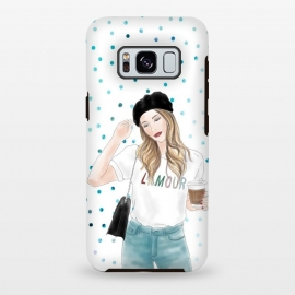Galaxy S8 plus  Lamour Coffee Fashion Girl by