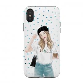 iPhone Xs / X  Lamour Coffee Fashion Girl by