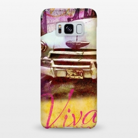 Galaxy S8+  Viva Cuba Old Car Mixed Media Art by Andrea Haase