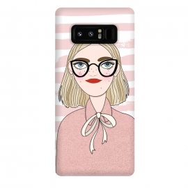 Galaxy Note 8  Cute Pink Fashion Girl by DaDo ART