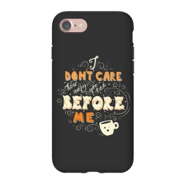 iPhone 8/7  Coffee typography funny design by Jelena Obradovic