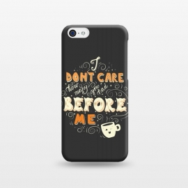 iPhone 5C  Coffee typography funny design by Jelena Obradovic
