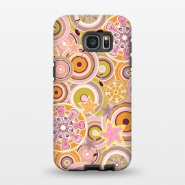 Galaxy S7 EDGE  Glam Boho Rock in Pink and Orange by Paula Ohreen