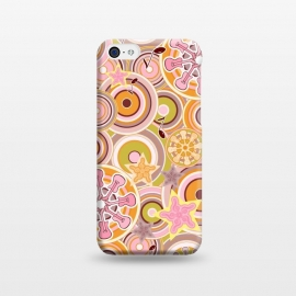 iPhone 5C  Glam Boho Rock in Pink and Orange by Paula Ohreen