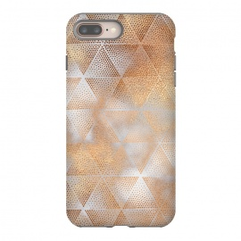 Rose Gold Marble Triangle Pattern by Utart