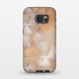 Galaxy S7  Rose Gold Marble Triangle Pattern by Utart