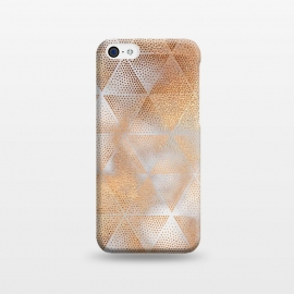 iPhone 5C  Rose Gold Marble Triangle Pattern by Utart