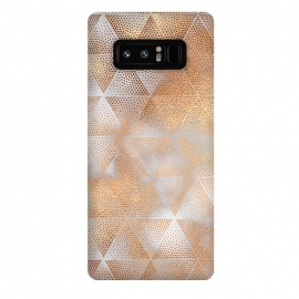 Galaxy Note 8  Rose Gold Marble Triangle Pattern by Utart