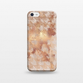 iPhone 5C  Geometrical modern Rose Gold Marble Pattern by Utart