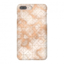 Modern Quadrangle Shapes Rose Gold Marble Pattern by Utart