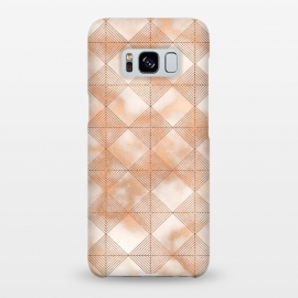 Abstract Minimalistic Rose Gold Marble Quadrangles  by Utart