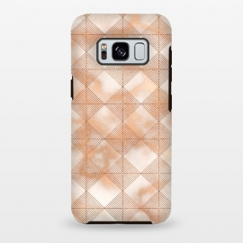 Galaxy S8 plus  Abstract Minimalistic Rose Gold Marble Quadrangles  by