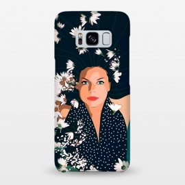 Galaxy S8+  Drowning in Love by Uma Prabhakar Gokhale (graphic design, portrait, woman, drown, swim, swimming, water, flowers, floral, nature, fashion, beauty)