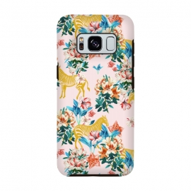 Galaxy S8  Floral and Zebras by Uma Prabhakar Gokhale