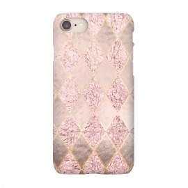 iPhone 8/7  Rose Gold Glitter Argyle by Utart